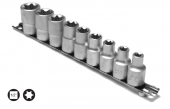 Set capete chei tubulare cu profil TORX interior E10-E24/9 piese cu sina 1/2 7190H6P9E