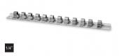 Sina metalica cu 10 cleme pentru capete chei tubulare 1/4