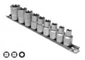 Set capete chei tubulare cu profil TORX interior E4-E24/14 piese cu sina 1/4