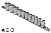 Set capete chei tubulare 6 laturi 10-32 mm/11 piese cu sina 1/2